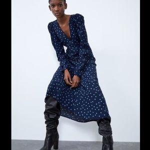 Vintage retro rockabilly classic polka dot dress S